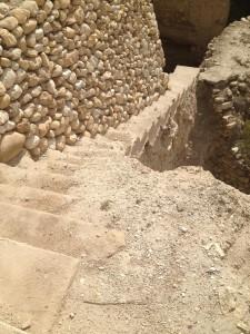 escaleras de piedra en Jericó