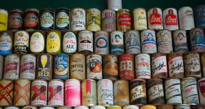 Colección de latas de cerveza raras