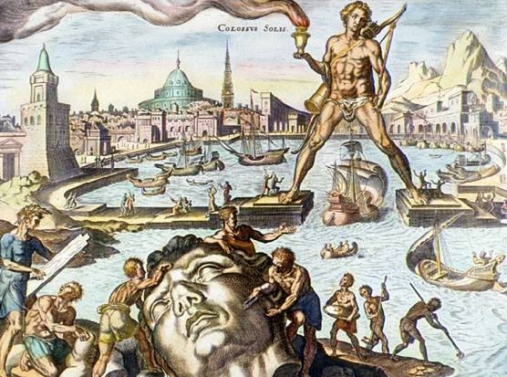 Coloso de Rodas como se imaginaba en el S XVI