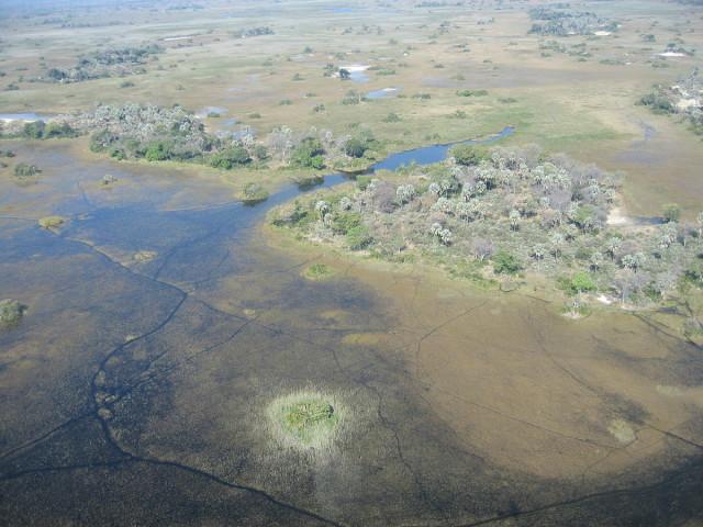 Delta del Okavango, vista aérea