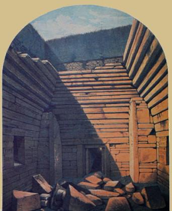 Maeshowe tras su apertura en 1861