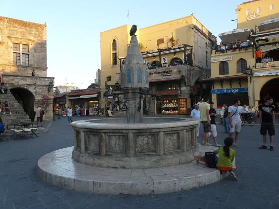 Plaza de Hipócrates en Rodas