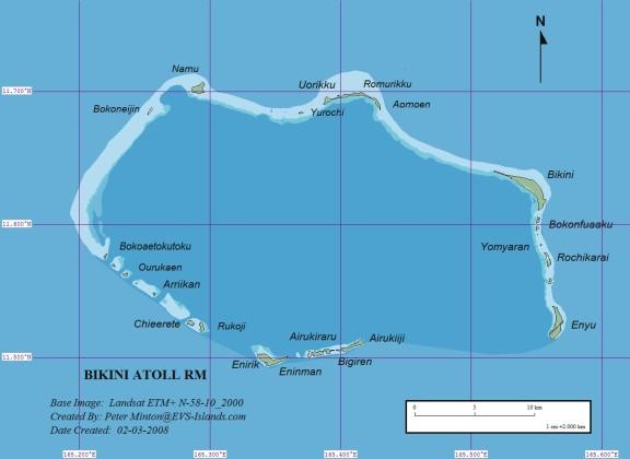 Mapa Atolón Bikini
