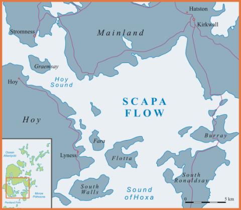Mapa de Skapa Flow