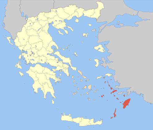 Mapa de situación del Dodecaneso